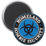 Homeland Zombie Security - Blue B Fridge Magnet