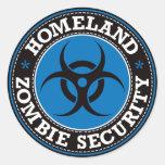 Homeland Zombie Security - Blue B Round Sticker