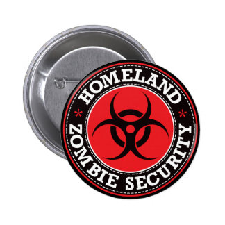 Homeland Zombie Security - Red B 6 Cm Round Badge