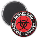 Homeland Zombie Security - Red B Magnet