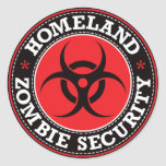 Homeland Zombie Security - Red B Round Sticker