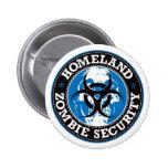 Homeland Zombie Security Skull - Blue 6 Cm Round Badge