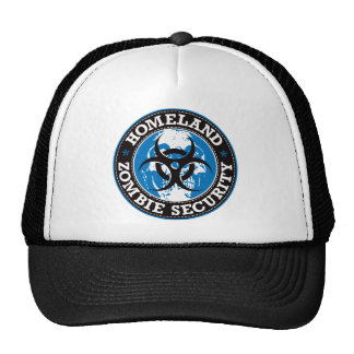Homeland Zombie Security Skull - Blue Cap