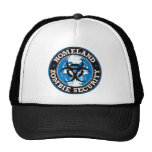 Homeland Zombie Security Skull - Blue Mesh Hat