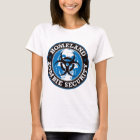 Homeland Zombie Security Skull - Blue T-Shirt