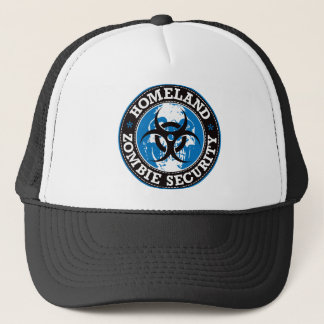 Homeland Zombie Security Skull - Blue Trucker Hat