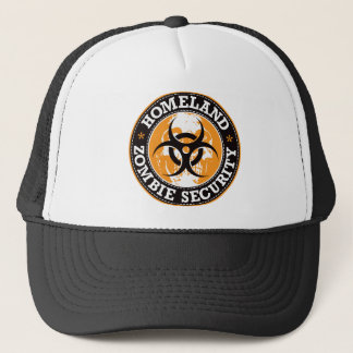 Homeland Zombie Security Skull - Orange Trucker Hat