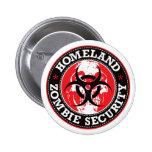 Homeland Zombie Security Skull - Red 6 Cm Round Badge