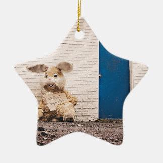 Homeless Bunny Christmas Ornament