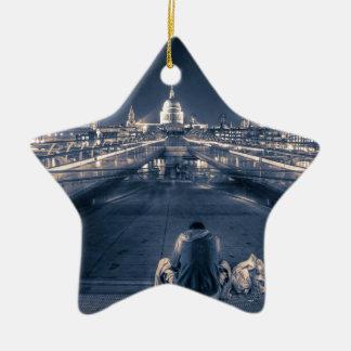 Homeless in London Christmas Ornament