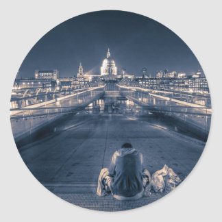 Homeless in London Classic Round Sticker