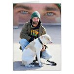 Homeless Man & Dog Greeting Card