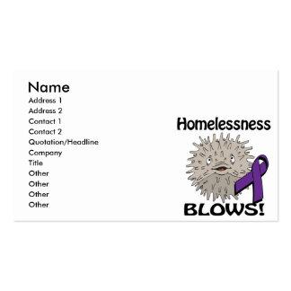 Homelessness Blows Awareness Design Business Card Templates
