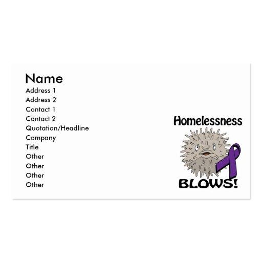 Homelessness Blows Awareness Design Business Card