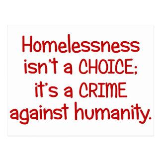 Homelessness isn t a choice post card