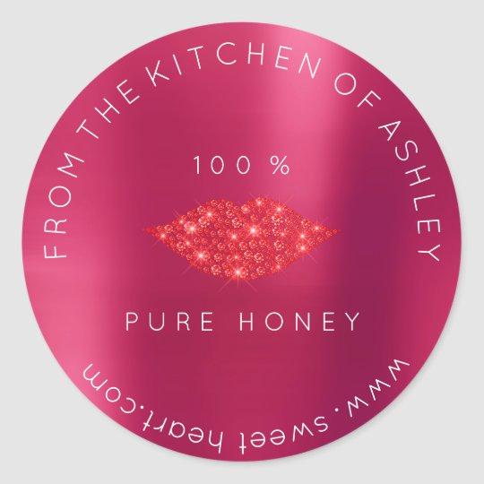 Homemade 100 % Honey From Kitchen Pink Lips