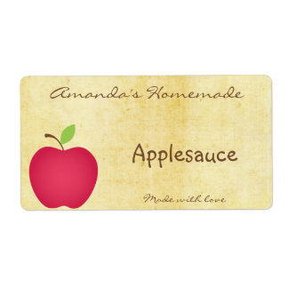 Homemade Apple Canning Label
