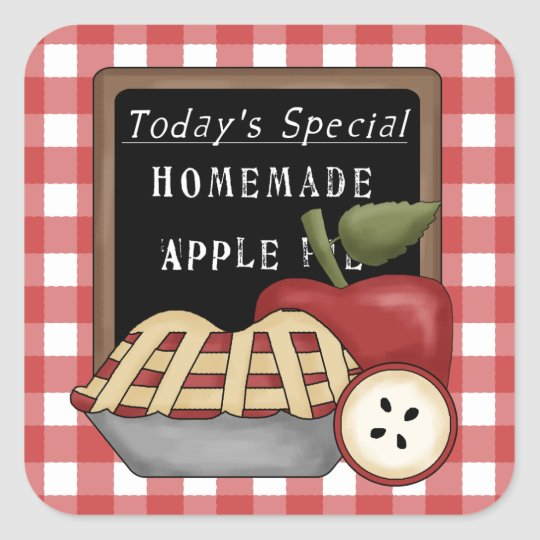Homemade apple pie fun sticker