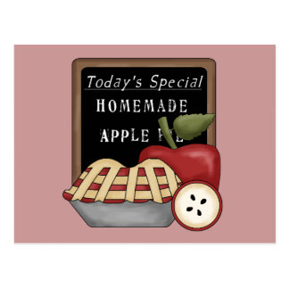 Homemade Apple Pie Recipe Card Postcard