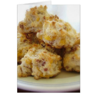 Homemade Bacon Cheddar Biscuit Notecards Card