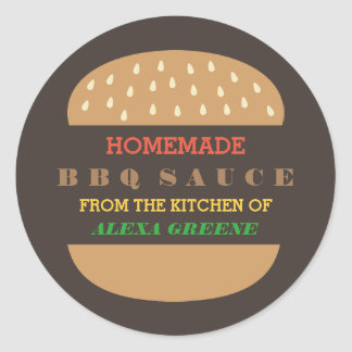 Homemade BBQ Sauce | From the kitchen of Classic Round Sticker