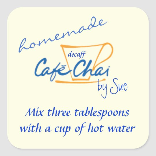Homemade Chai Tea Gift Labels by YOU