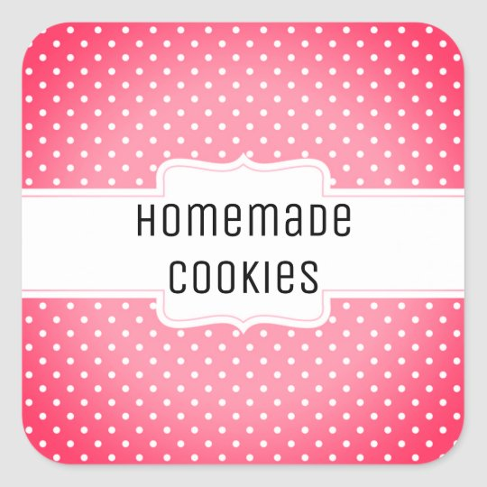 Homemade cookies, customisable sticker