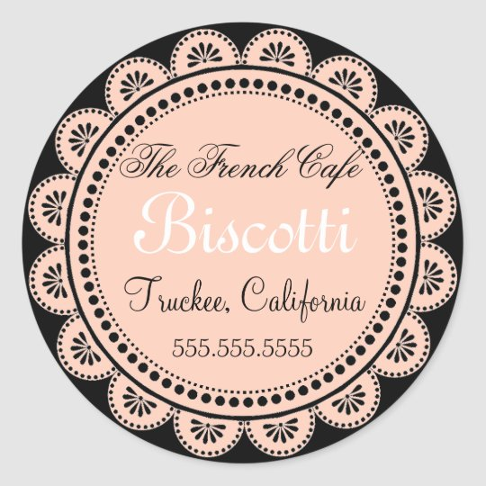 Homemade Cookies Pink Lace Classic Round Sticker