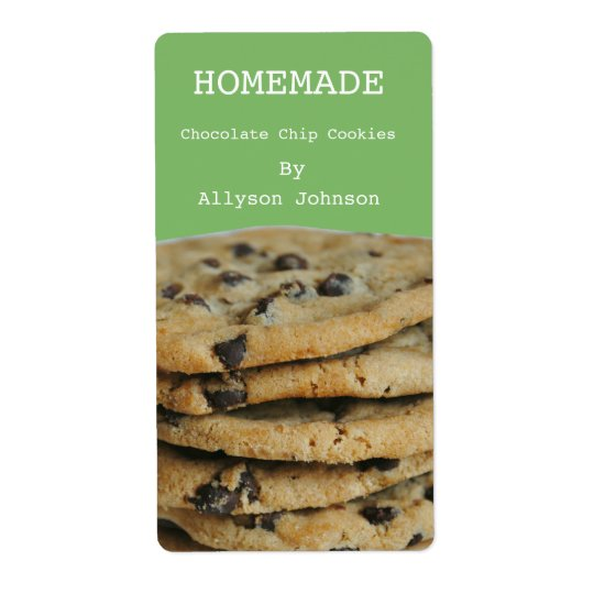 Homemade Cooking Chocolate Chip Cookies Labels