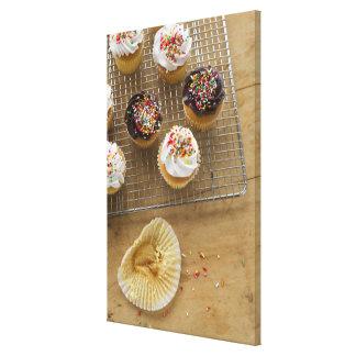 Homemade cupcakes canvas print