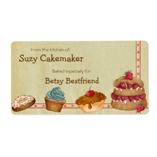 Homemade Desserts Personalized Labels