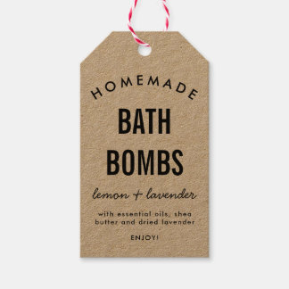 Homemade DIY bath bomb packaging label
