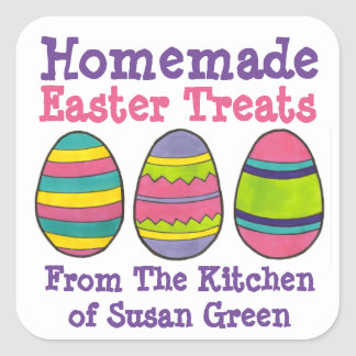 Homemade Easter Treats Cookie Baked By Egg Sticker