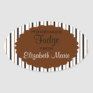 Homemade Fudge Oval Sticker
