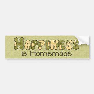 Homemade Happiness Bumper Sticker