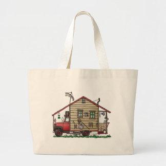 Homemade Hillbilly Camper Truck RV Jumbo Tote Bag