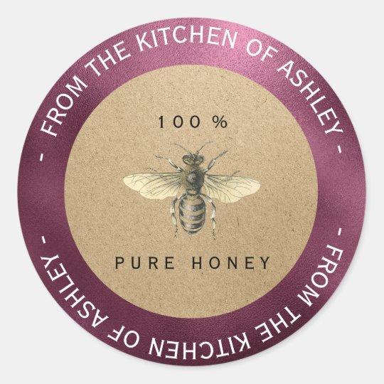 Homemade Honey Kitchen Kraft Bee Beetroot Burgundy Classic
