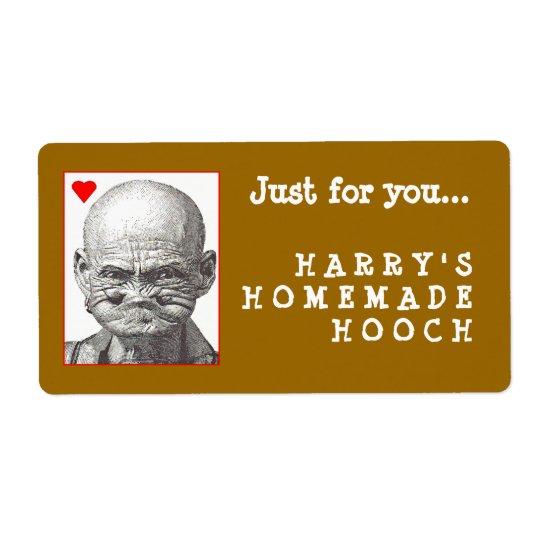 Homemade Hooch label Shipping Label