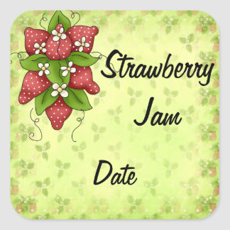 Homemade Jam Lables Square Sticker