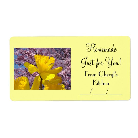 Homemade Just for You! Canning Gift Food Jar Label Shipping Label