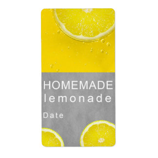 Homemade lemonade shipping label