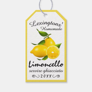 Homemade Limoncello Bottle Hang Tag |