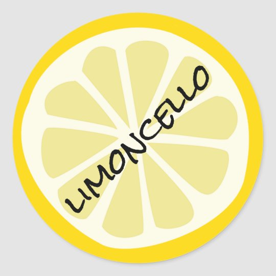 Homemade Limoncello Mason Jar Classic Round Sticker