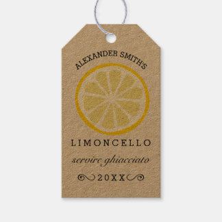 Homemade Limoncello Tag | Bottle