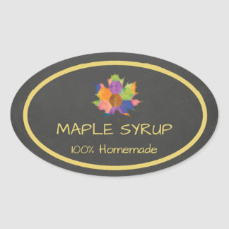 Homemade Maple Syrup Sticker
