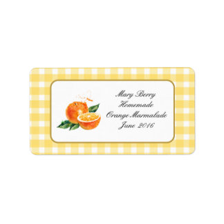 Homemade ORANGE MARMALADE  jam personalised  label