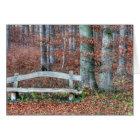 Homemade Park Bench Card