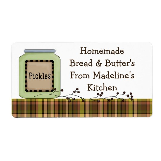 Homemade Pickle Jar Labels (Customise)
