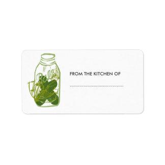 Homemade Pickles Glass Jar Food  Preserves Address Label