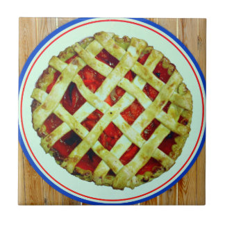 homemade pie small square tile